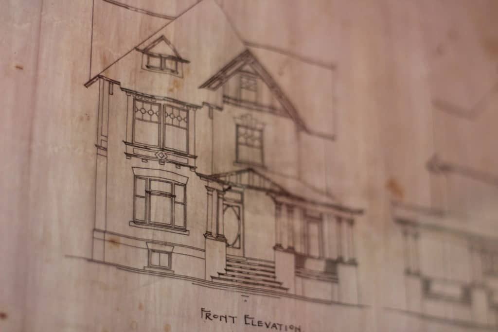 Original house blueprint